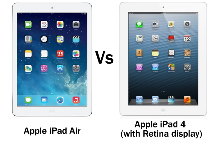 Apple iPad Air vs Apple iPad 4
