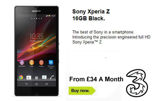 Sony Xperia Z Deals