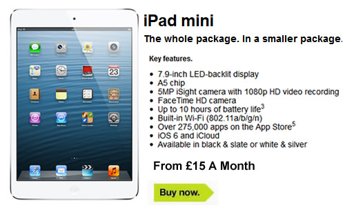 Ipad mini sim only deals