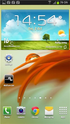Galaxy Note II Homescreen