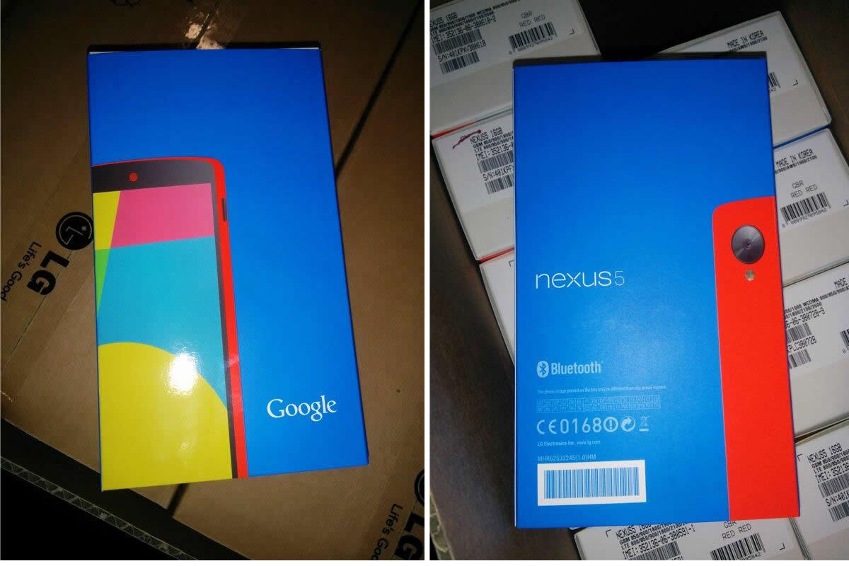 Google Nexus 5 Red Retail Box