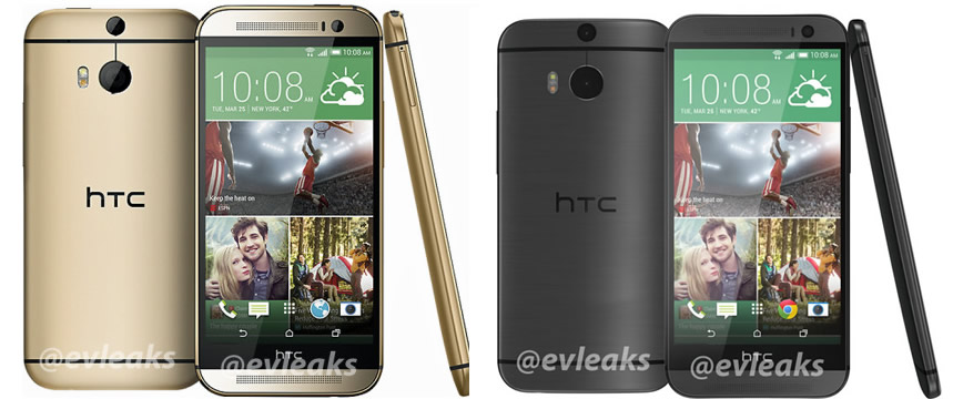 All New HTC One Gold and Grey