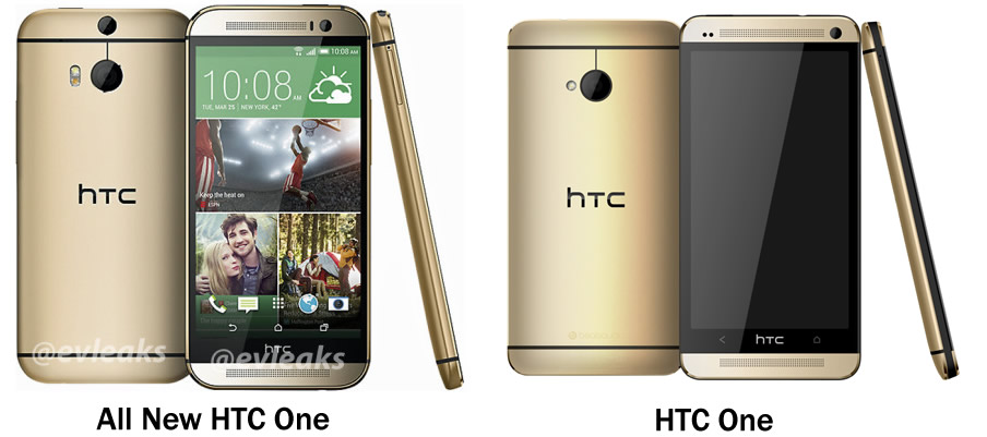 All New HTC One v HTC One