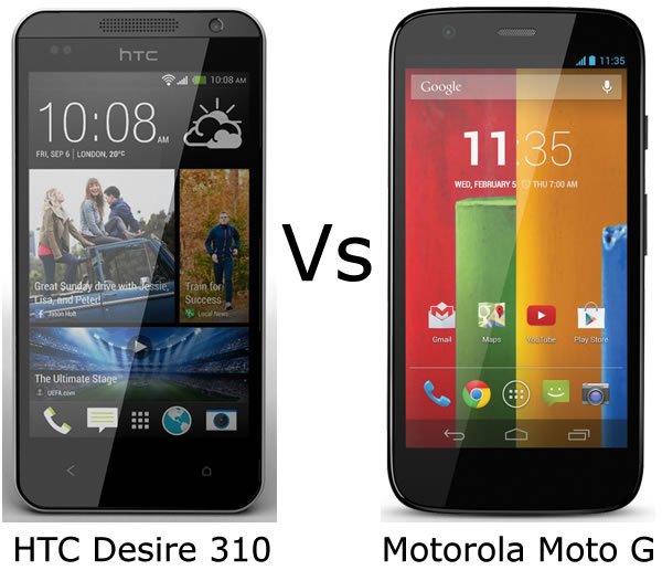 For the home htc desire 500 vs moto g sure full