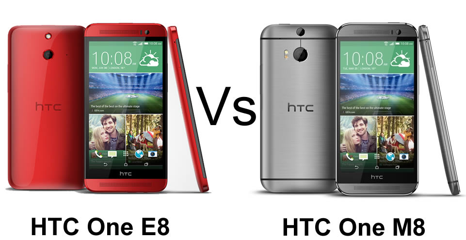HTC One E8 vs HTC One M8