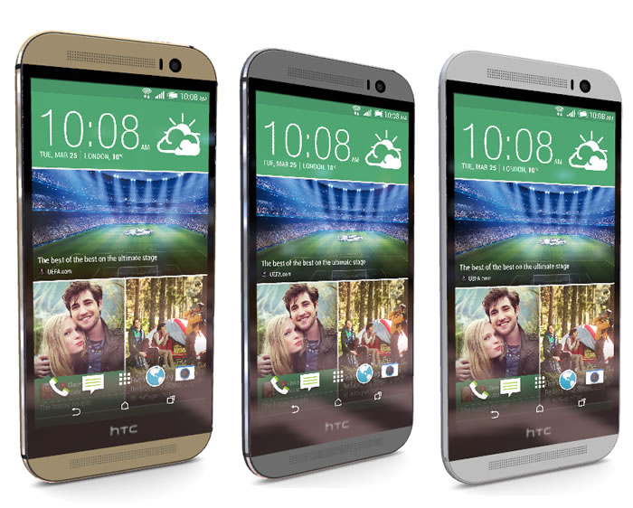 HTC One M8 - Gold, Silver and Grey