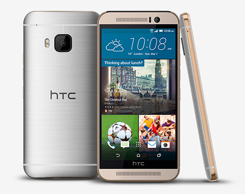 HTC One M9 - Best smartphone for selfies