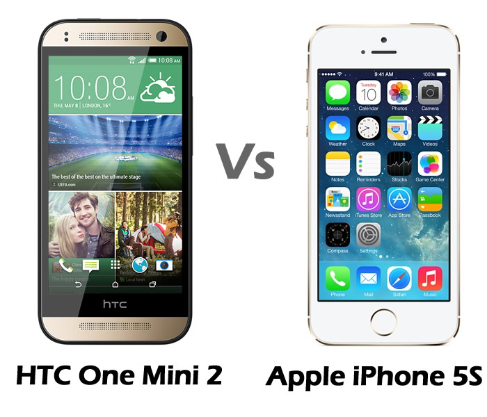 HTC One Mini 2 vs Apple iPhone 5S