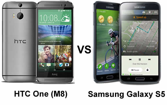 HTC One (M8) vs Samsung Galaxy S5