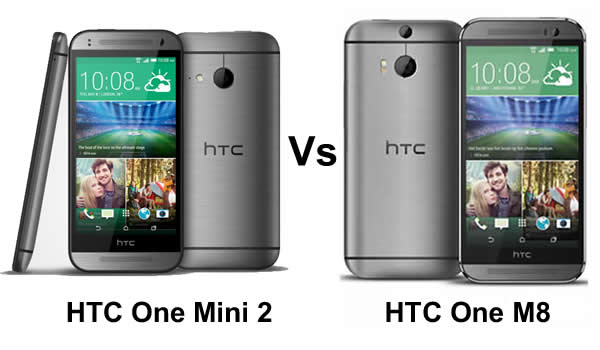 HTC One Mini 2 vs HTC One M8