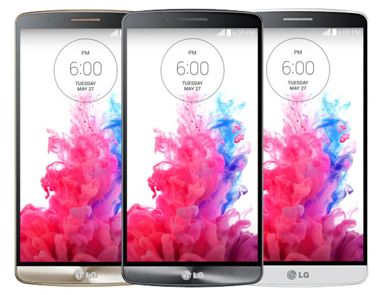 LG G3 Gold, Black and Silver