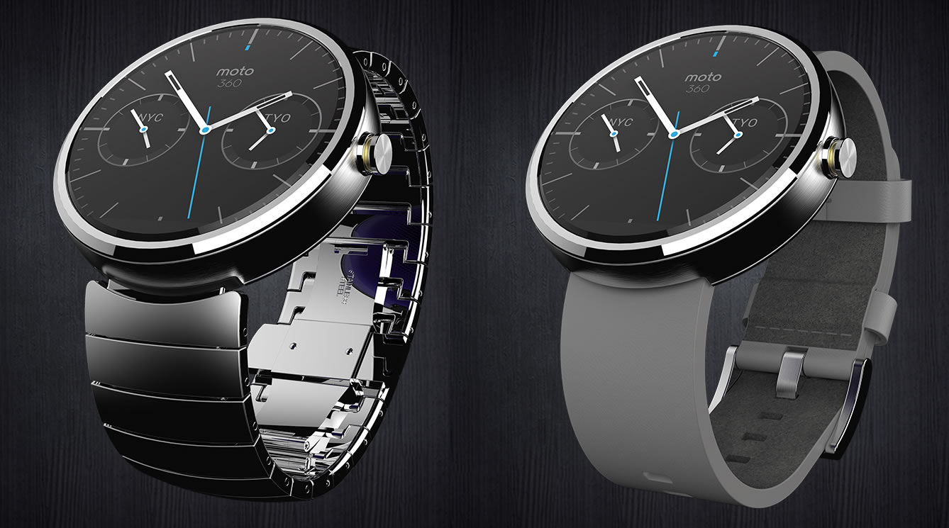 Moto 360 - Leather and metal