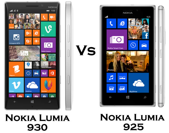 Nokia Lumia 930 vs Nokia Lumia 925