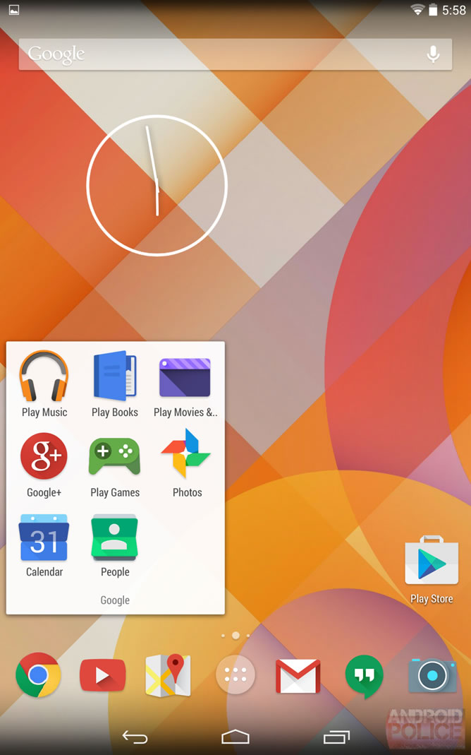 Android 5.0 Visual Appearance