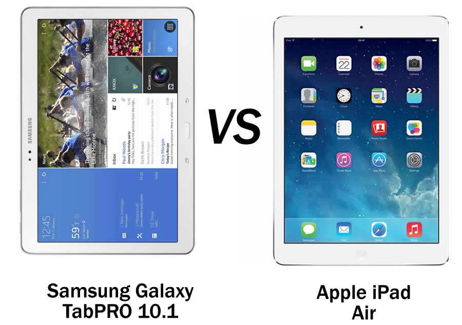 Samsung Galaxy Tab Pro 10.1 vs Apple iPad Air