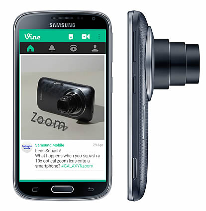Samsung and Vine team up for the Galaxy K Zoom