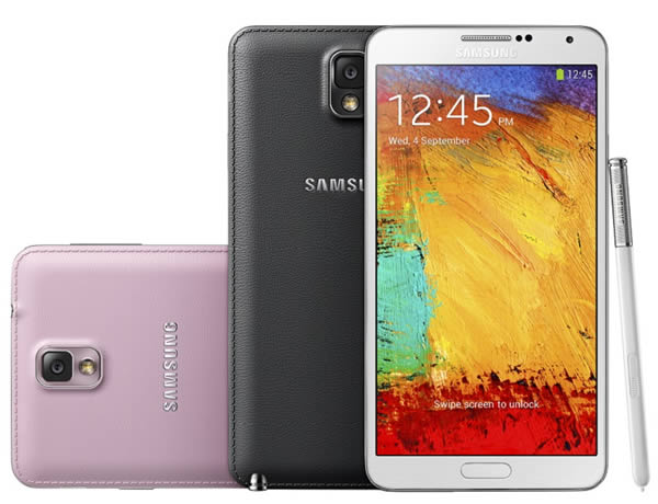 Samsung Galaxy Note 3 - Black, White and Pink