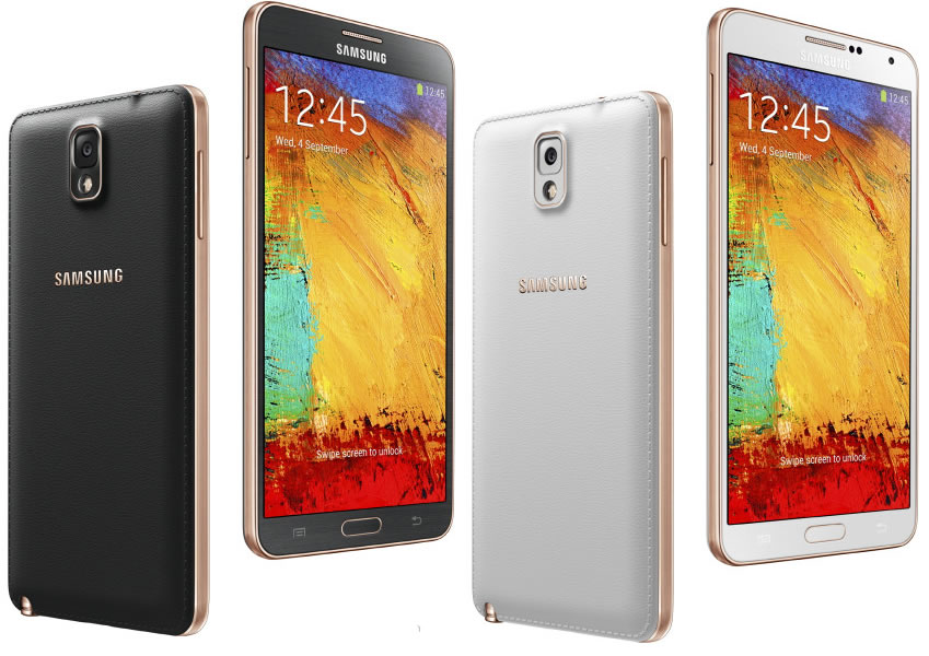 Samsung Galaxy Note 3 Rose Gold Black and Rose Gold