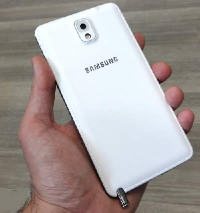 Samsung Galaxy Note 3 Hands-On Back