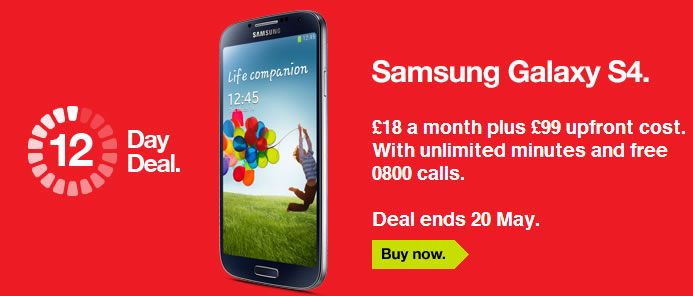 Samsung Galaxy S4 Flash Sale
