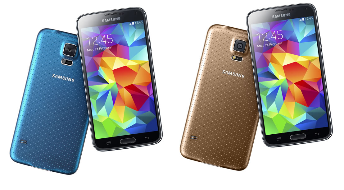 Samsung Galaxy S5 Blue and Gold