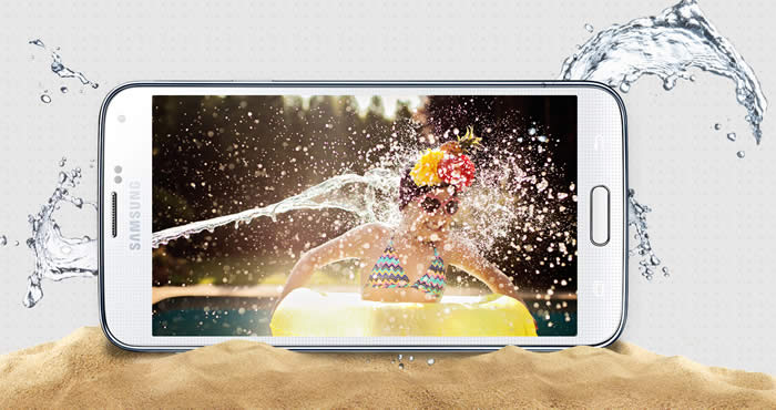 Samsung Galaxy S5 Waterproof and DustProof