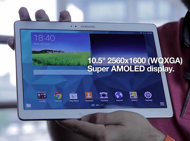 Samsung Galaxy Tab S Now On Three