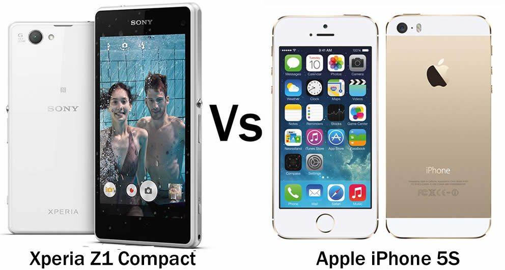 Sony compact z1 vs iphone 5s