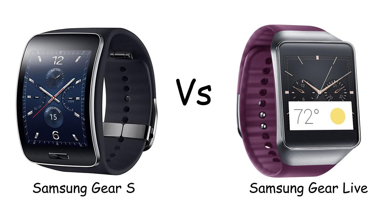 samsung gear s vs samsung gear live smartwatch slugfest