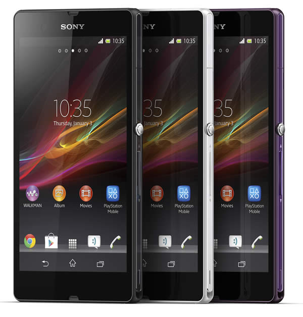 Sony Xperia Z Colour Range