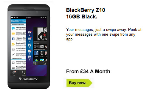 Blackberry Z10 Deals