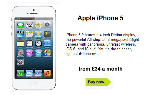 Apple iPhone 5 Deals