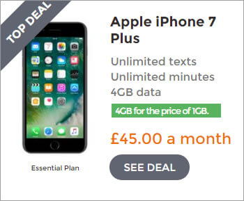 iPhone 7 Plus deals - 4GB for the price of 1GB Deal