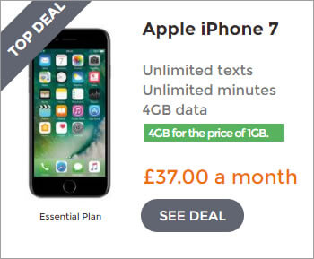 iPhone 7 deals - 4GB for the price of 1GB Deal