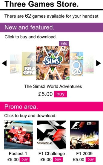 Three UK Games Store Relaunch