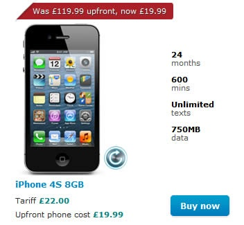 Apple iPhone 4S on O2