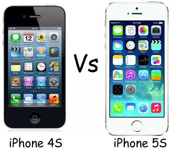 iphone 4 vs iphone 5s apple iphone 4s vs apple iphone 5s 17345