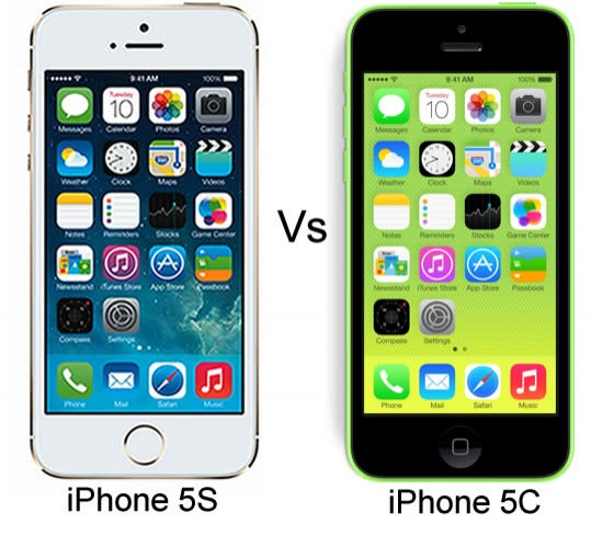 apple iphone 5c vs apple iphone 5s