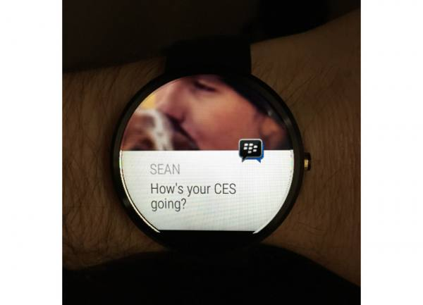 BlackBerry Messenger on Android Wear