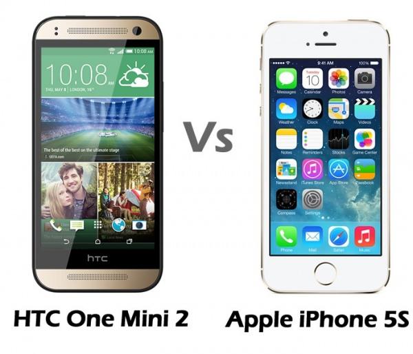 htc one mini 2 vs apple iphone 5s