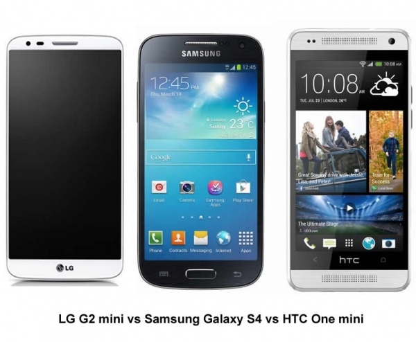 LG G2 mini vs Samsung Galaxy S4 mini vs HTC One mini