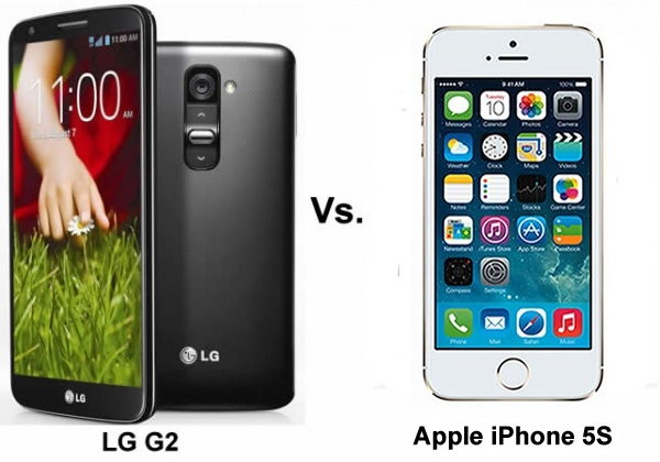 Apple iPhone 5S vs LG G2 : Flagship Face-Off