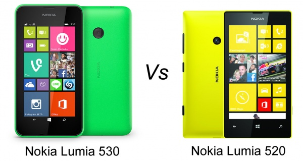 Nokia Lumia 530 vs Lumia 520