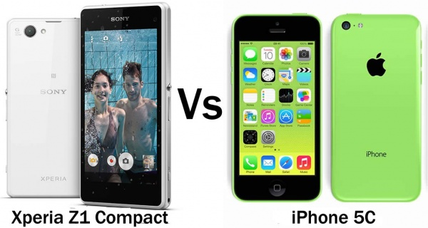 Sony Xperia Z1 Compact vs Apple iPhone 5C