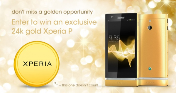 Sony Xperia P 24k Gold Edition