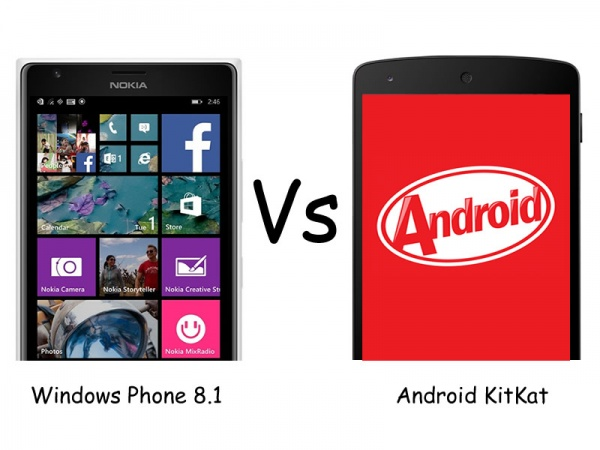 Home gt mobile phone news gt windows phone 8 1 vs android kitkat