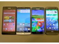 LG G3 vs Samsung Galaxy S5 vs HTC One (M8) vs Sony Xperia Z2