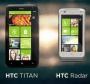 The HTC Titan and HTC Radar Close Up