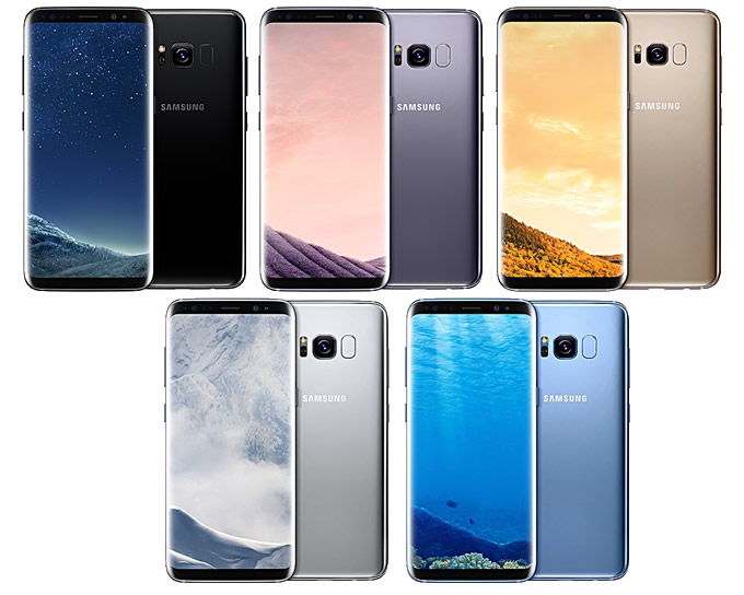 Galaxy S8 All Colours