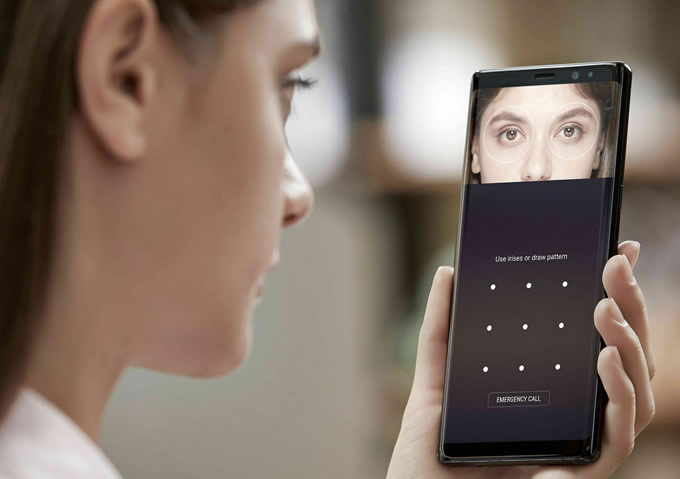 Note 8 review iris scanner